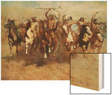Victory Dance Wood Print by Frederic Sackrider Remington