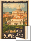 St. Peter's Basilica, Roma Italy 6 Wood Print by Anna Siena