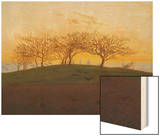 Hills and Ploughed Fields Near Dresden, about 1824 Posters by Caspar David Friedrich