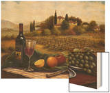 Terrace at Chianti Wood Print by Joe Sambataro