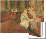 In the Salon at Rue Des Moulins, 1894 Wood Print by Henri de Toulouse-Lautrec