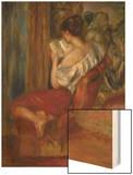 Reading Woman, circa 1900 Wood Print by Pierre-Auguste Renoir
