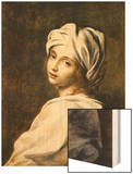Portrait of Beatrice Cenci, Housed in the Galleria Nazionale d'Arte Antica, Rome Wood Print by Guido Reni