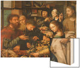 Berufung Des Matthaeus, 1536 Wood Print by Jan Sanders van Hemessen