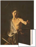 David with the Head of Goliath Wood Print