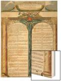 Déclaration des Droits de l'Homme et du Citoyen décrétés par la Convention Nationale en 1793, Wood Print