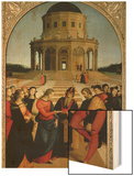 The Marriage of the Virgin, 1504 Wood Print by  Raphael
