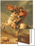 Napoleon Crossing the St. Bernard Pass, c.1801 Wood Print by Jacques-Louis David