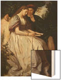 Paolo Und Francesca, 1864 Wood Print by Anselm Feuerbach