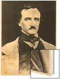 Portrait of Edgar Allan Poe Wood Print by Sarah Ellen Whitman