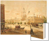 State House, Philadelphia Wood Print by Augustus Kollner