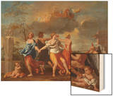 Il Ballo Della Vita Humana (A Dance to the Music of Time), 1638-1640 for Clemens Ix Wood Print by Nicolas Poussin
