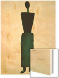 Suprematist Female Figure, 1928-32 Wood Print by Kasimir Malevich
