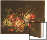 A Still Life of Fruit Wood Print by Cornelis de Heem