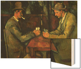 The Card Players, 1890-95 Wood Print by Paul Cézanne