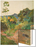 Martinique Landscape (Tropical Vegetation), 1887 Wood Print by Paul Gauguin