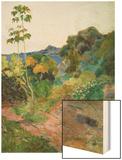 Martinique Landscape (Tropical Vegetation), 1887 Wood Print by Paul Gauguin