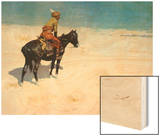 The Scout: Friends or Enemies Wood Print by Frederic Sackrider Remington