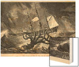The Kraken, as Seen by the Eye of Imagination, from John Gibson's Monsters of the Sea, 1887 Wood Print by Edward Etherington