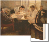 The Night Before the Exam, 1935 Wood Print by Leonid Osipovic Pasternak
