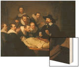 The Anatomy Lesson of Dr Nicolaes Tulp, 1632 Wood Print by  Rembrandt van Rijn
