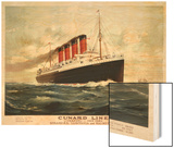 Advertisement for the Cunard Line, C.1908 (Colour Litho) Wood Print by Fred Pansing