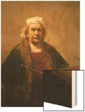 Self Portrait, 1661-62 Wood Print by  Rembrandt van Rijn