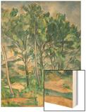 The Aqueduct (Montagne Sainte-Victoire Seen Through Trees), circa 1885-87 Wood Sign by Cézanne Paul