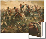 Battle of Waterloo, 18th June 1815, 1898 Wood Print by William Holmes Sullivan