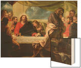 The Last Supper, 1786 Wood Print by Benjamin West