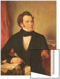 Franz Peter Schubert (1797-1828) Wood Print by Wilhelm August Rieder