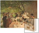 The Wedding Meal at Yport, 1886 Wood Print by Albert-Auguste Fourie