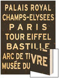 Paris Sign Wood Print