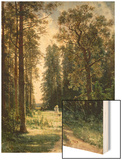 The Path Through the Woods, 1880 Wood Print by Ivan Ivanovitch Shishkin
