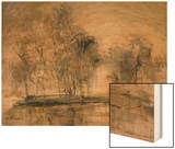 Willows in Morning Wind Wood Print by Wanqi Zhang