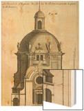 Planche 254 (2) :  élévation du portrail de l'église de la Visitation Sainte-Marie bâtie par Wood Print by Jacques-francois Blondel