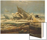 The Polar Sea (The Failed Hope), about 1823/24 Wood Print by Caspar David Friedrich