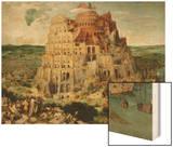 The Tower of Babel, 1563 Wood Print by Pieter Bruegel the Elder
