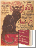 Poster Advertising an Exhibition of the Collection Du Chat Noir Cabaret at the Hotel Drouot, Paris Wood Print by Théophile Alexandre Steinlen