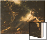 The Sleep of Endymion, 1791 Wood Print by Anne-Louis Girodet de Roussy-Trioson