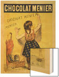 "Reproduction of a Poster Advertising ""Menier"" Chocolate, 1893 Wood Print by Firmin Etienne Bouisset"