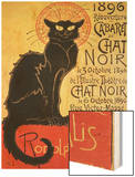 Reopening of the Chat Noir Cabaret, 1896 Wood Print by Théophile Alexandre Steinlen
