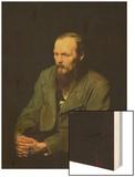 Portrait of Fyodor Dostoyevsky (1821-81) 1872 Wood Print by Vasili Grigorevich Perov