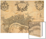 A New Plan of the City of London, Westminster and Southwark Wood Print by John Stow