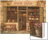 Book Shop Wood Print by Sung Kim