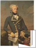 Portrait of Gilbert Motier (1757-1834) the Marquis De La Fayette as a Lieutenant General, 1791 Wood Print by Joseph Desire Court