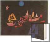 Abfahrt Der Schiffe, 1927 Wood Print by Paul Klee