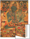 L'âdibuddha Vajrasattva (rDo-rje semsdpa') et sa parèdre Wood Print