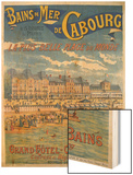 Cabourg Poster Wood Print by Emile Levy