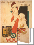 German Advertisement for 'Vogue' Perfume, Printed by Wolff and Sohn, 1927 Wood Print by Jupp Wiertz